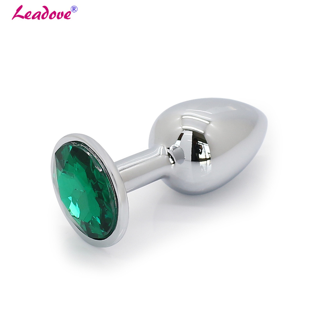 Small Size 13 Colors Stainless Steel Round Diamond Shape Jewelry Butt Plug Sex Adult Toys Russian Warehouse Choosable 73*28mm