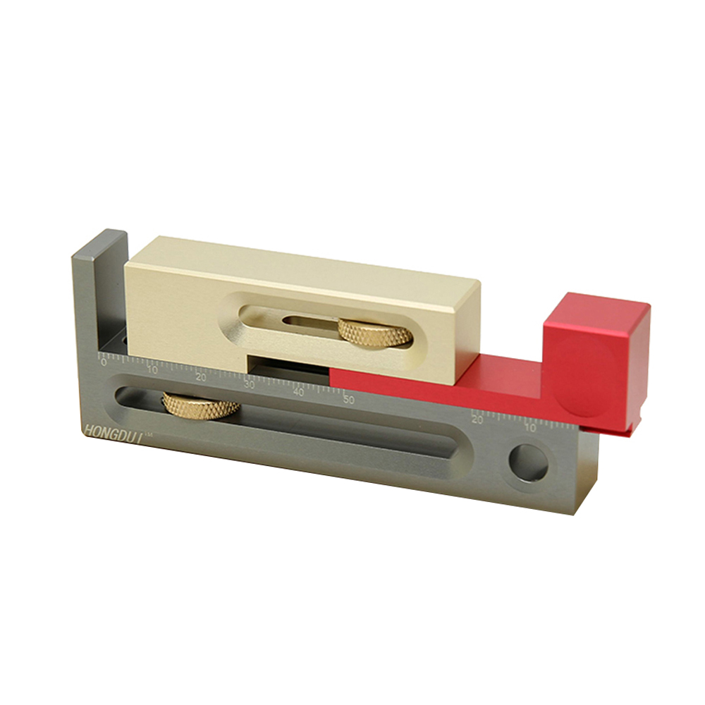 13mm thickness Saw Table Saw Slot Adjuster Mortise and Tenon Tool Movable Measuring Block Length Compensation Woodworking Tools