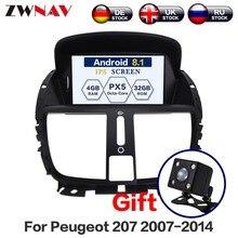 Android 8,0 dvd-плеер автомобиля для peugeot 207 2014-2007 gps навигация Радио Стерео Bluetooth USB Мультимедиа Бесплатная карта и камера