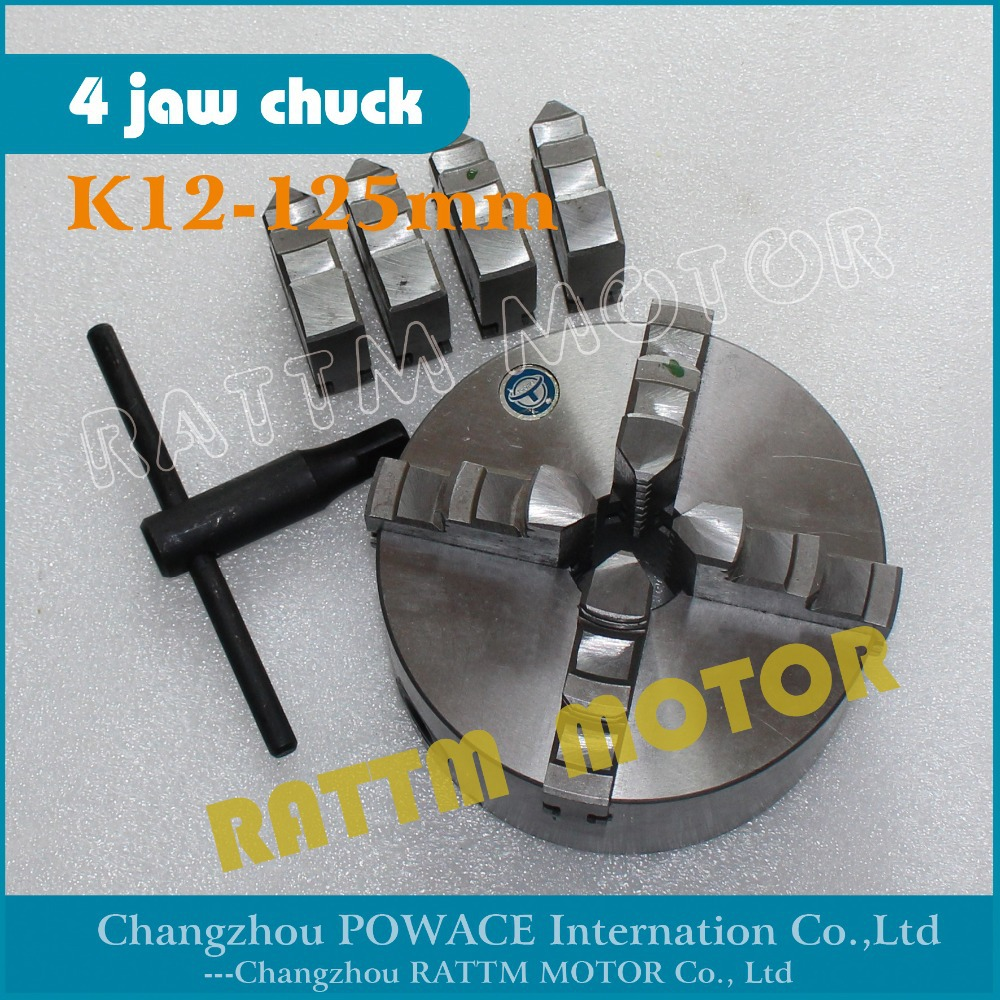 Manual chuck Four 4 jaw self-centering chuck K12-125mm 4 jaw chuck Machine tool Lathe chuck 4 jaw self centering chuck k12 130 machine tool lathe chuck