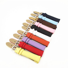 Wholesale 250PCS / lots 12MM 14MM 16MM 18MM 20MM PU with genuine leather Watch band watch strap 10 colors available -110901