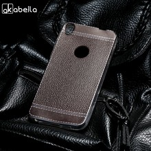 AKABEILA Silicone Phone Cover Case For Alcatel Shine Lite One Touch Shine Lite 5080 5080X 5.0 inch Case TPU Lichee Cover Bag(China)