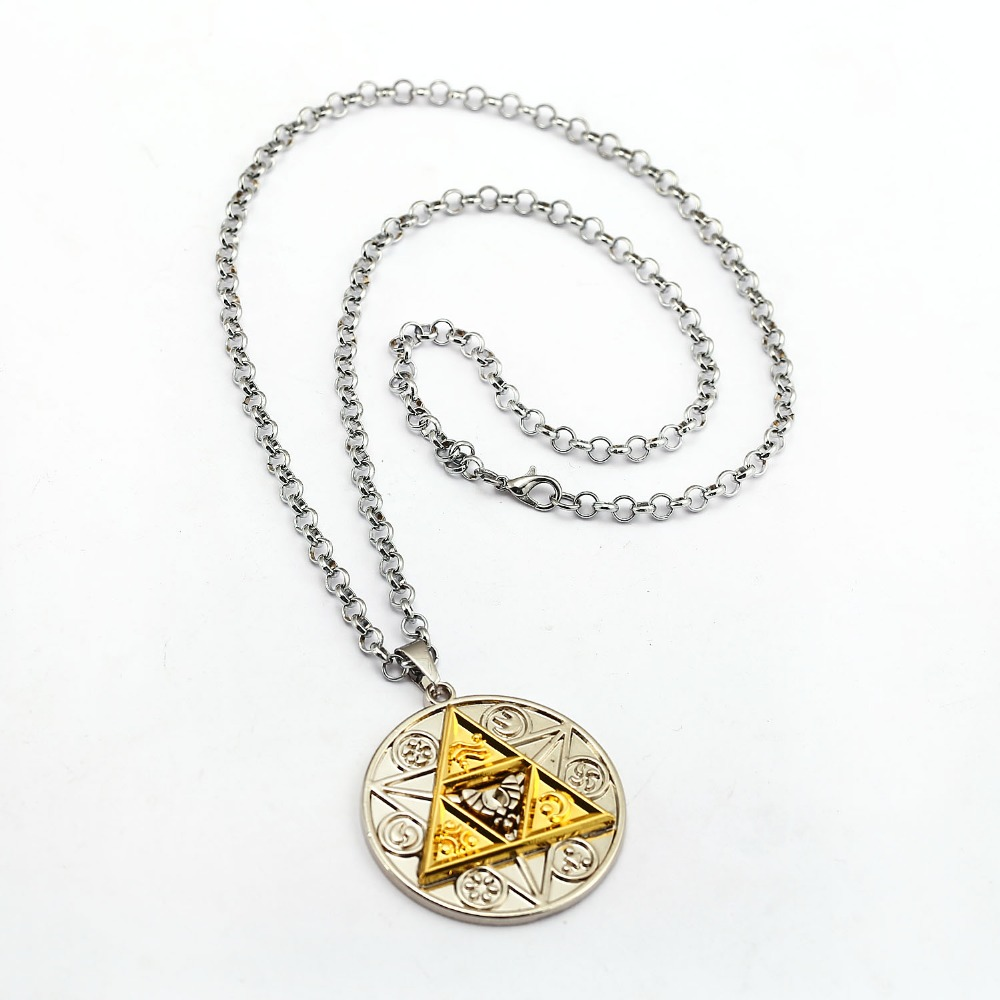 Legend of Zelda Necklace Magic Coin Pendant Fashion Link Chain