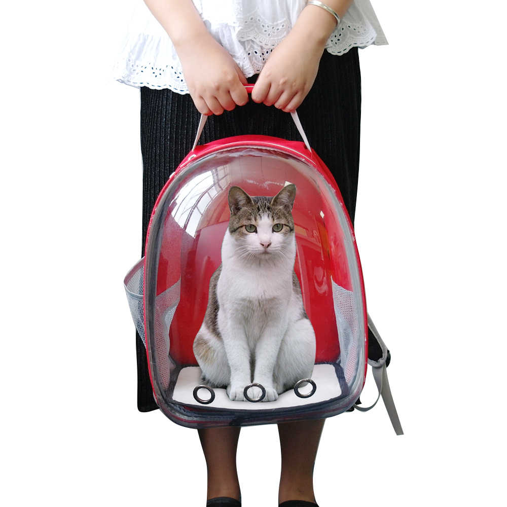 Respirável Pet Saco de Portador Do Gato Transparente Espaço Astronauta Cápsula Mochila Saco Para Gatos Filhote de Cachorro Animais de Estimação Carregam Bolsa de Viagem Ao Ar Livre