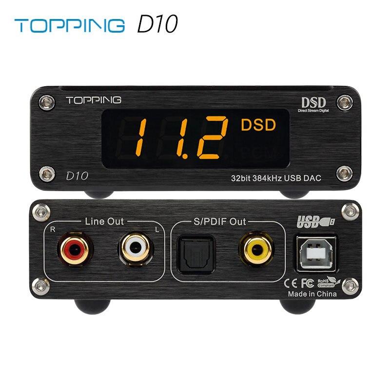 TOPPING D10 MINI USB DAC CSS XMOS XU208 ES9018K2M OPA2134 Audio Versterker Decoder-in Hoofdtelefoon Versterker van Consumentenelektronica op  Groep 1