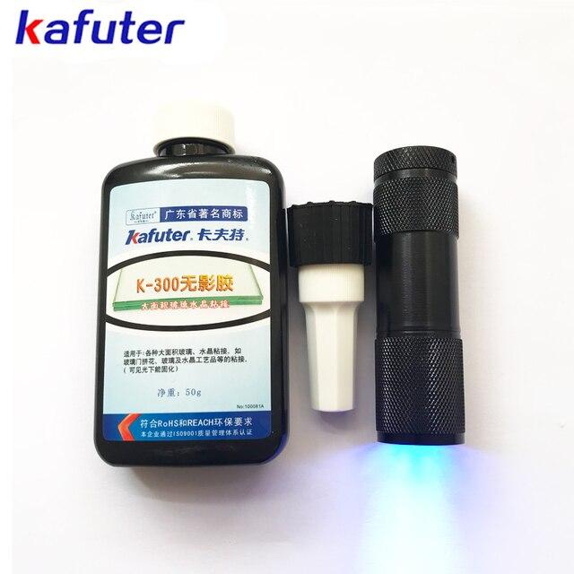 de0c8da625a Envío gratuito 50 ml kahuter UV pegamento UV curado adhesivo K-300  transparente cristal y