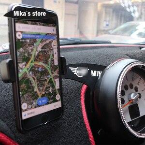 Image 5 - カーオートメタル携帯電話ミニクーパー R55 R56 R60 R61 車スタイリングクラブマン同胞携帯電話ホルダーアクセサリー