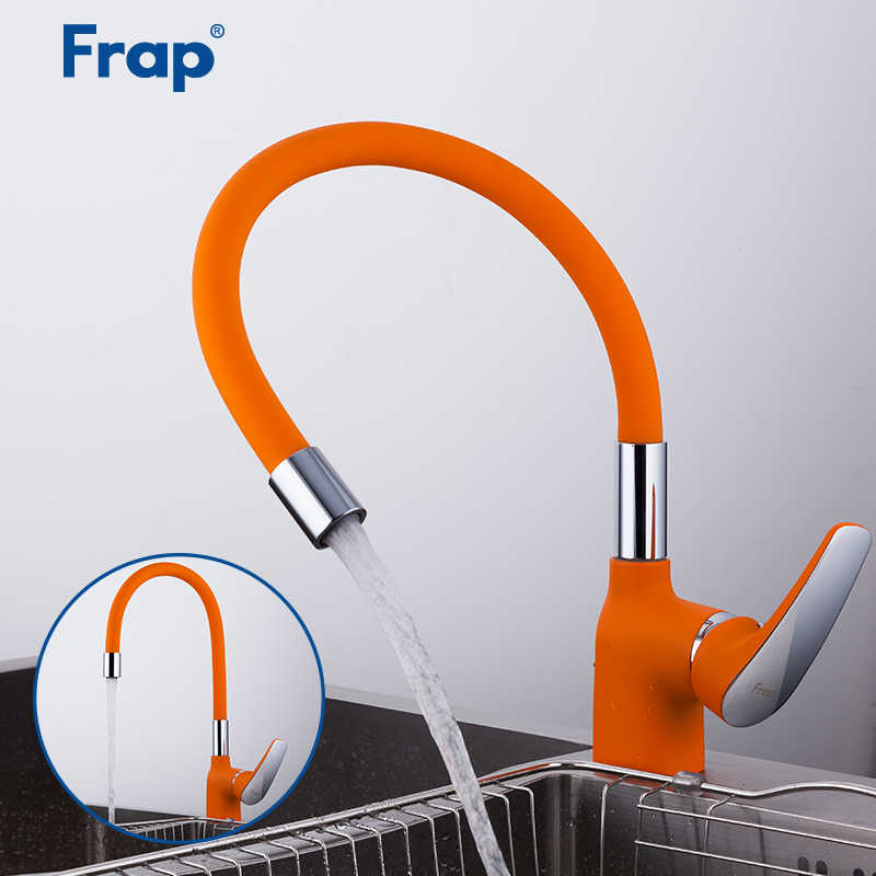 FRAP Mutfak Musluk 4 renk silika jel burun mutfak lavabo musluğu musluk su muslukları mikser modern güverte üstü tapware