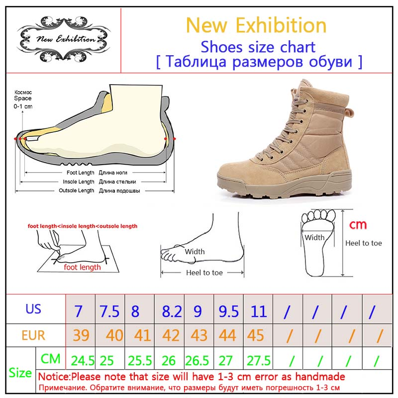 1b6335a44f0 US $29.06 36% OFF Aliexpress.com : Buy New exhibition military Work boots  men Desert Tactical Martin army boots Outdoor Hiking Shoes Travel Leather  ...