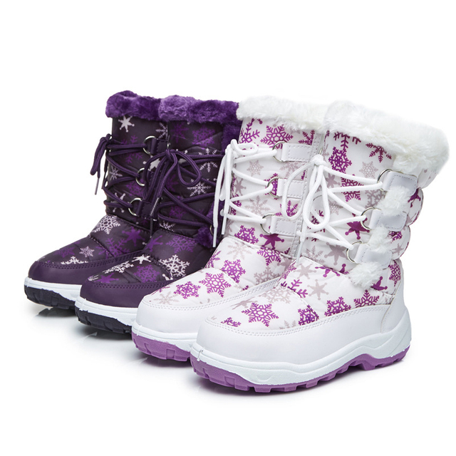 0c1bedaf071d Kids Snow Boots Winter Leather Shoes for Children Winter Boot Shoes -30  Degree Antiskid Girl Boots Children Shoe Boys Boots