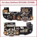 """Original porta do conector de carregamento USB Microfone PCB jack board Para Asus zenfone 2 ZE551ML Z550ML 5.5 """"Carga Usb substituição parte"""