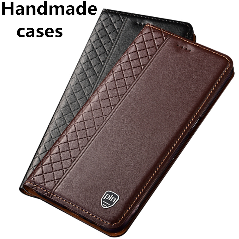 Genuine <font><b>leather</b></font> flip standing <font><b>case</b></font> for Samsung <font><b>Galaxy</b></font> S10 S10 Plus S10e <font><b>S9</b></font> <font><b>S9</b></font> Plus S8 Plus S7 phone <font><b>case</b></font> card slot holder coque image