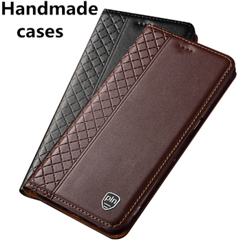 Genuine leather flip standing cases for Huawei P40 Pro/Huawei P40/Huawei P40 Lite phone cases card slot holder coque fundas capa фото