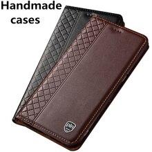 Genuine leather flip standing cases for OPPO Realme X2 Pro/Realme X2/Realme XT/Realme C2/Reno 2Z phone case card slot holder