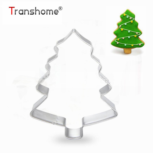 transhome tree cookie mold biscuit cake tools cookie cutter jelly pastry mould fondant dessert christmas baking