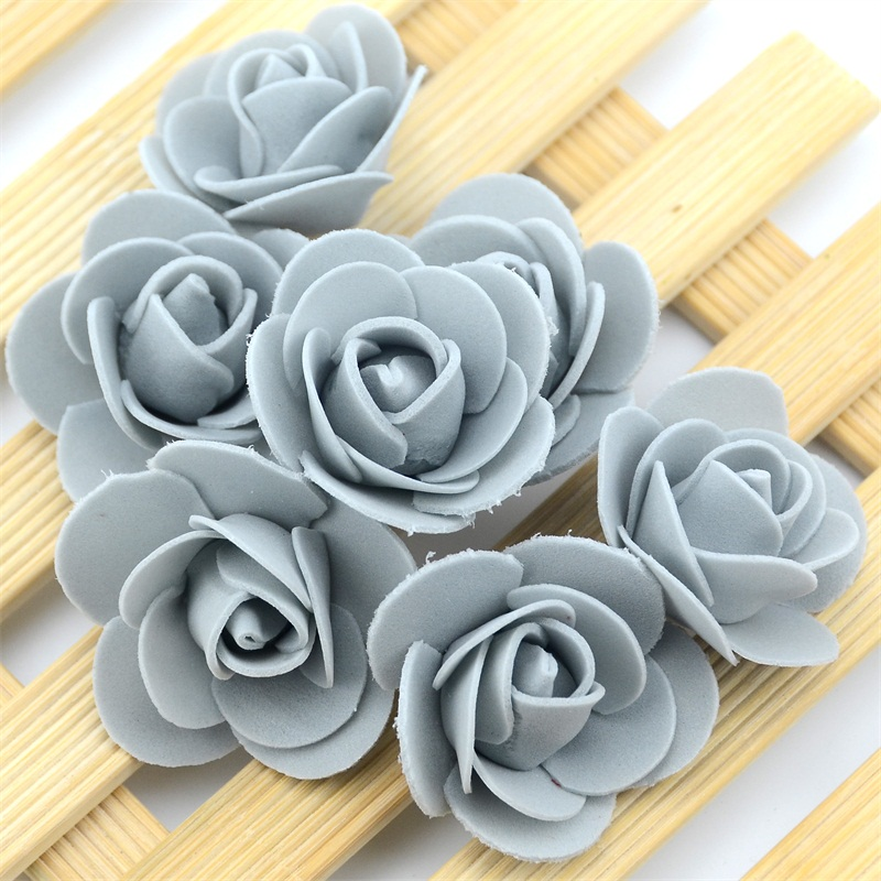 50pcs/Bag Multicolor Mini Rose Head Artificial Flowers For Wedding And Festival Party 13