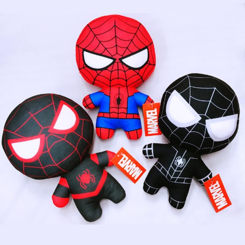 20cm Three Styles Marvel Avengers 4 Superhero Red And Black Spiderman Hulk Infinite Soft Plush Toys For Children
