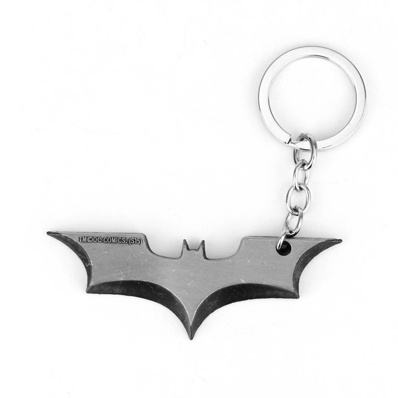 BATMAN METALLIC CHROME CHUNKY KEYRING BATMAN KEY RING BATMAN THE DARK KNIGHT