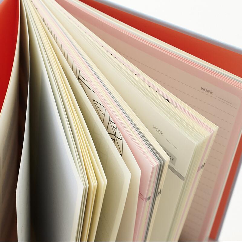 Verdicken manuelle notebook Einfache farbe seite zeitplan Effizienz ...