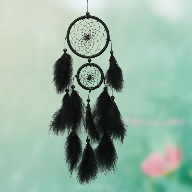 Black Handmade Indian Dream Catcher