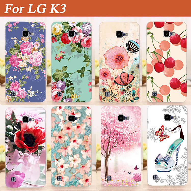 Cartoon 10 Patterns TPU Painting Case Cover For LG K3 LTE K100 K100DS LS450 4.5 K 3 3G Silicone Back Cover Phone Case