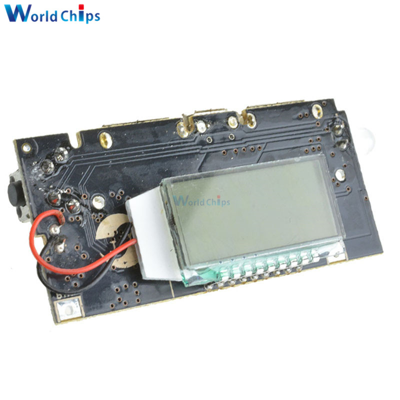 Automatic Protection! Dual USB 5V 1A 2.1A Mobile Power Bank 18650 Lithium Battery Charger Board Module Digital PCB dual usb 5v 1a 2 1a mobile power bank 18650 battery charger pcb module board