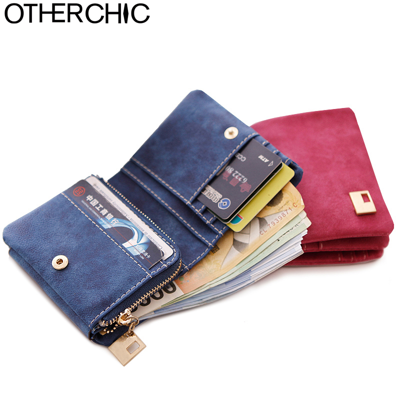 OTHERCHIC Women Wallets Ladies Small Wallet Zipper Roomy Women Coin Purse Female Credit Card Wallet Purses Money Bag 5006 otherchic genuine leather women short wallets sheep skin small soft trifold wallet purse wallet female purses money clip 6n12 39
