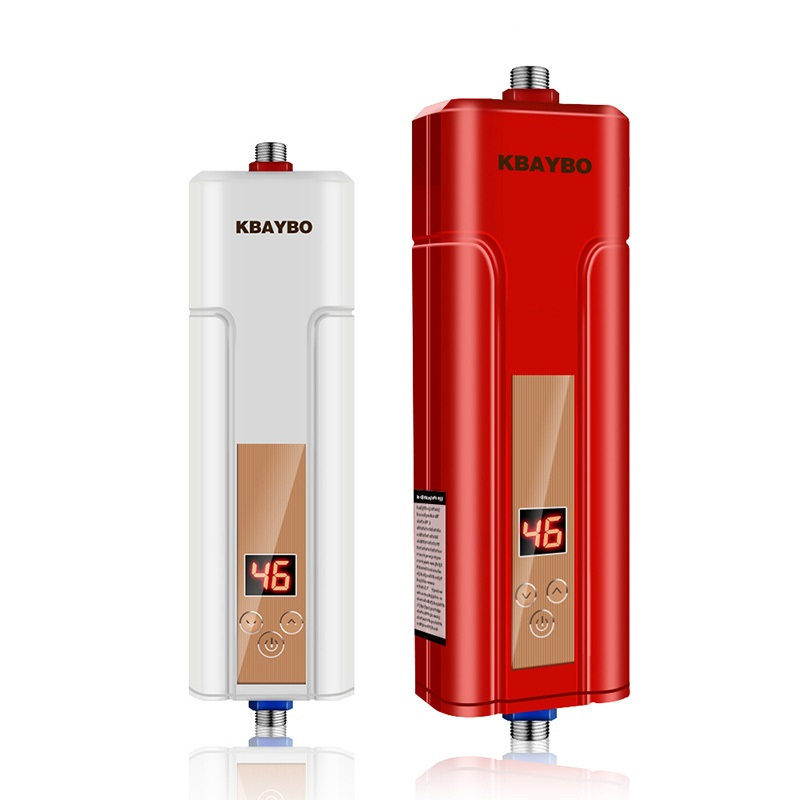 5500W Instantaneous Electric Water Heater Instant Electric Heating Shower Water Heater Kitchen Bathroom Water Heater