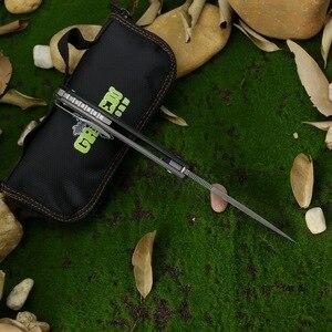 Image 3 - Cuchillo plegable de fibra de carbono con mango de titanio, herramienta de supervivencia EDC, verde, Espino, Hati, personalizado, M390, F95, para acampar al aire libre