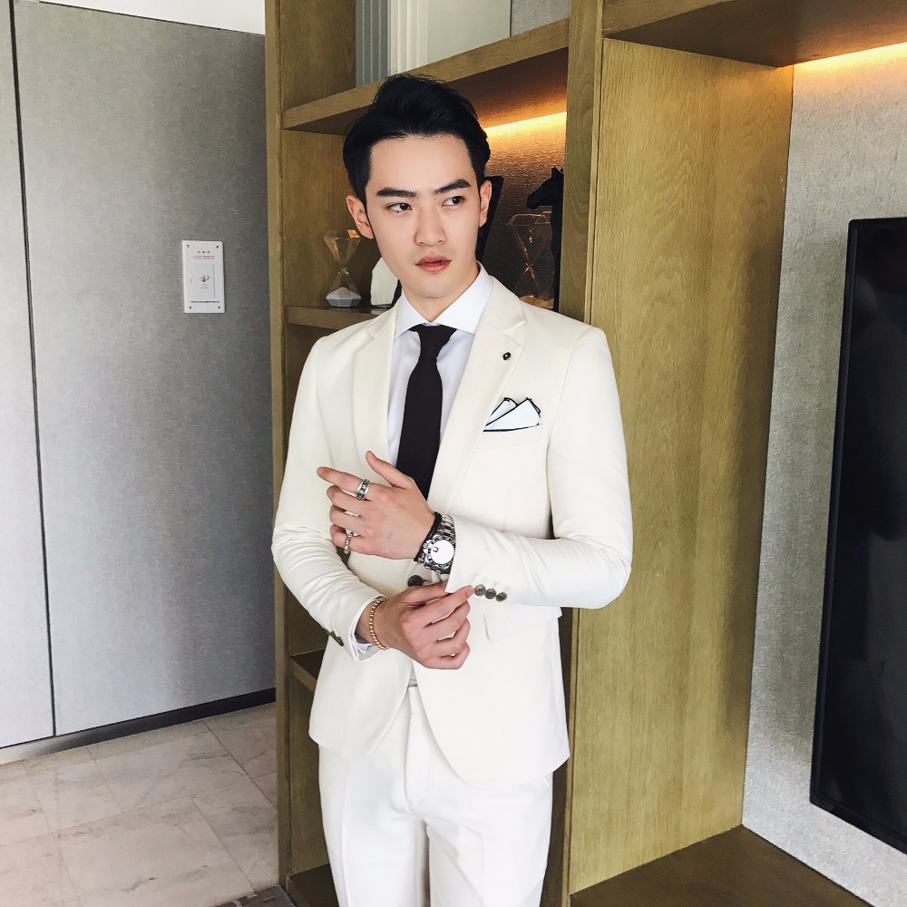 2017 Winter Suits Mens White Suits Mens Dinner Jackets White Tuxedo ...