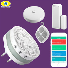 Golden Security APP Control Bluetooth Alarm System Wireless Doorbell Door Bell Night Light Home Security Door Sensor Linkage
