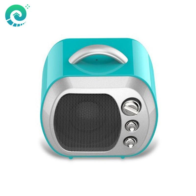 EHome U14B Mini Wireless <font><b>Bluetooth</b></font> Speaker Radio FM Boombox Portable Column Retro TV Style Speaker Caixa De <font><b>Som</b></font> Amplifier