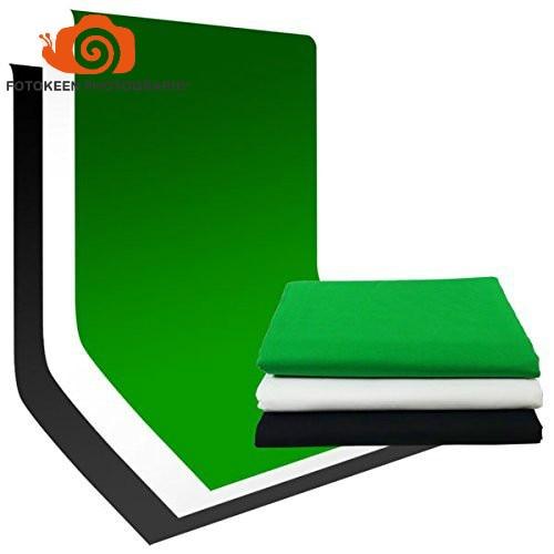 Gratuit shipping100 % Photographie Photo Vidéo Studio En Mousseline De Coton de Toile De Fond De Fond Multiconditionnement (Noir Blanc Vert) plus de tailles option