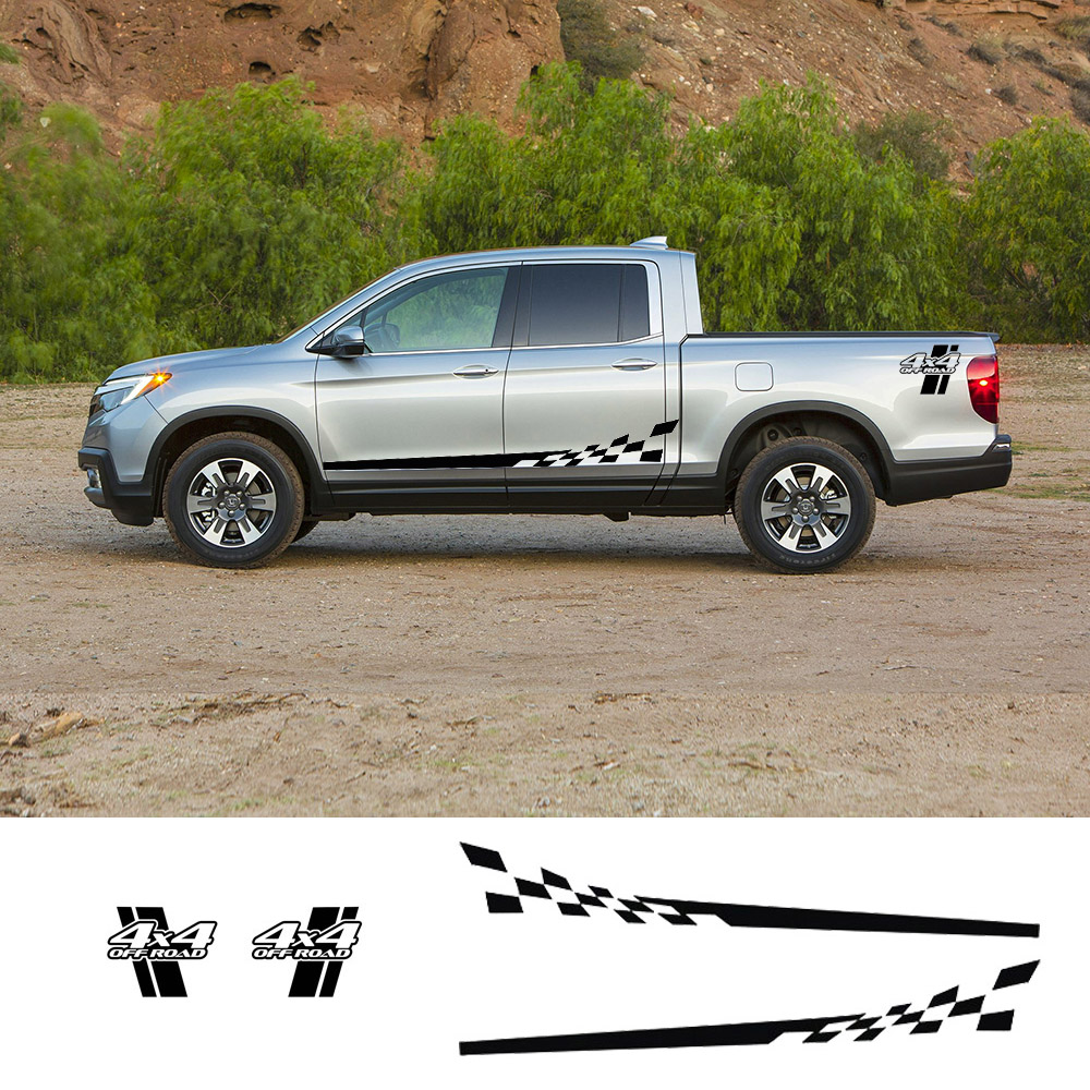 Honda Ridgeline Off Road >> Us 38 64 30 Off 4pcs Sets Decal Sticker Side Stripes Graphics