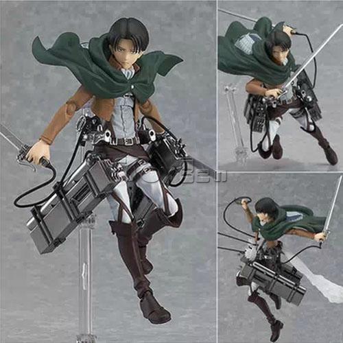 HOT Anime Shingeki No Kyojin Attack on Titan 15cm Rivaille Action Figure PVC Doll Toy #213