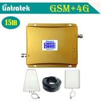 Lintratek ЖК-дисплей Дисплей GSM 900 LTE 1800 мобильный телефон сигнал повторителя 2 г 4 г усилитель сигнала 65db Dual Band celular 4 г Усилители домашние S47