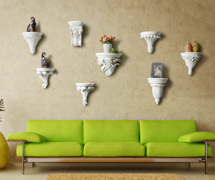 Creative Shelf online shop residential home european resin wall shelf decorative