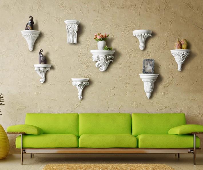 Residential home European resin wall shelf decorative creative ...