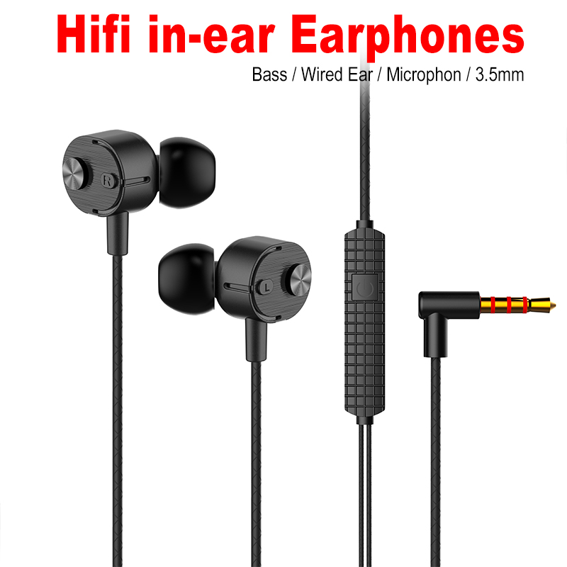 New Sport Earphone In-ear Eeaphones With Mic Handsfree  Eeaphones For Phones 3.5mm Connector Headset For Iphone Xiaomi Huawei