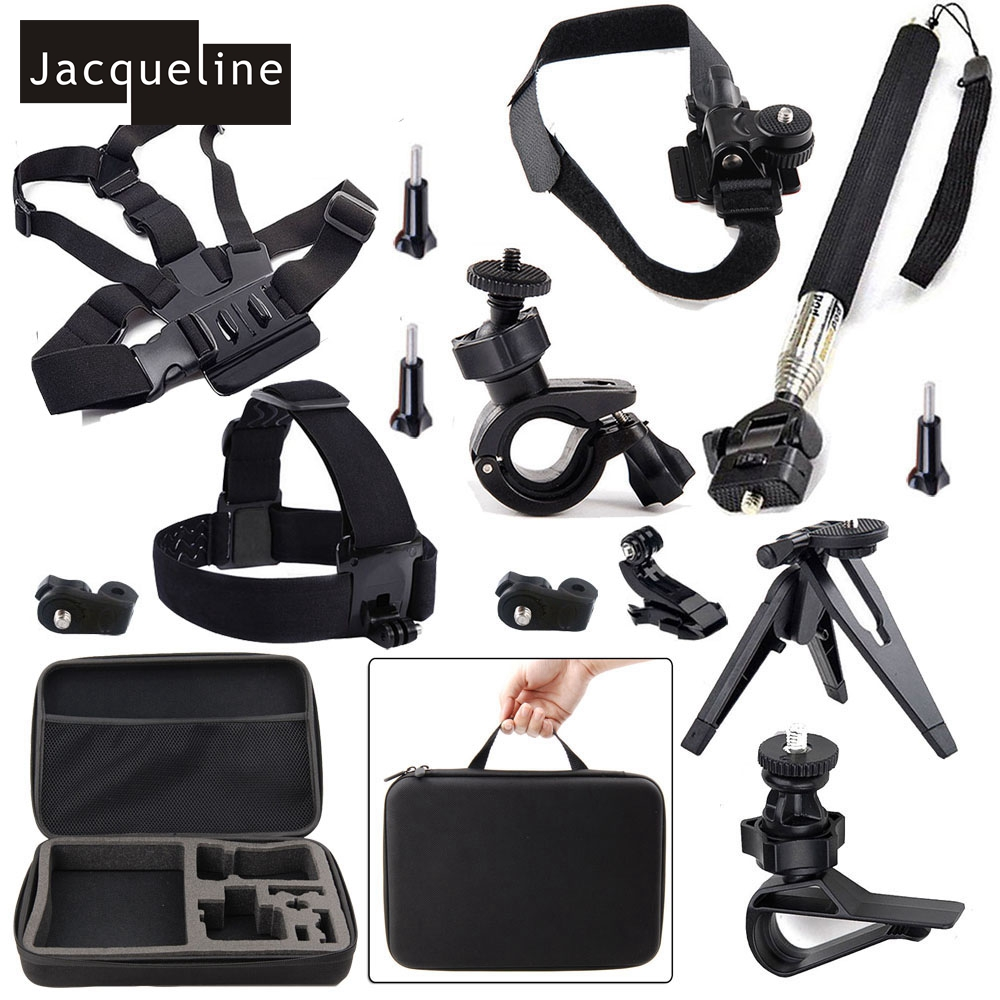 Jacqueline for AccessoriesTravel Kit for Sony Action Cam FDR-X1000V W 4K HDR-AS30V HDR-AS100V HDR-AZ1 Mini Kit AS15 AS20 видеокамера sony fdr x1000v 4k