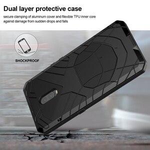 Image 3 - Para Oneplus 6 6 T Caso de Telefone Duro De Metal de Alumínio de Vidro Temperado Protetor de Tela 7 7Pro OnePlus Capa Heavy Duty proteção