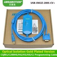Amsamotion USB-XW2Z-200S-CV Isolatie Soort Kabel Geschikt Omron CQM1/C200HE/CS Serie Plc-programmering Kabel
