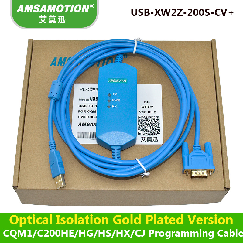 цена на Amsamotion USB-XW2Z-200S-CV Isolation Type Cable Suitable Omron CQM1/C200HE/CS Series PLC Programming Cable
