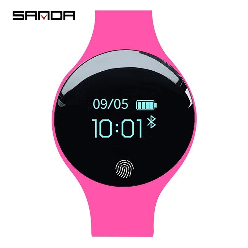 SANDA Luxus Smart Uhr Frauen Sport Armbanduhr Calorie Pedometer Fitness Uhren Für Android IOS Telefon Schlaf Tracker SmartWatch