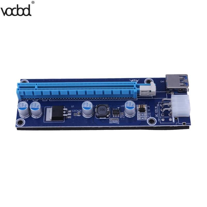60cm PCI-E PCI E Express 1x to 16x Graphics Card Riser Extender Adapter VER007 For Bitcoin BTC Miner Machine PCI-E Riser 5pcs 1 to 4 pcie pci express 16x riser card pci e 1x to external 4 pci e slot adapter multiplier card for bitcoin miner mining