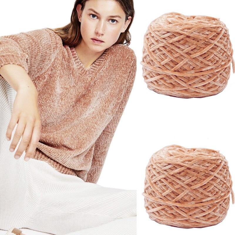 240g / Diameter 5mm. Softer texture Warm of chenille velvet Yarn . DIY crochet Knitting Puppet Toys , sweaters . hats . Socks
