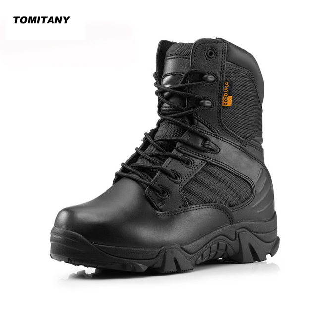 cb41006b3f5 US $30.79 45% OFF|Mens Hiking Shoes Outdoor Camping Trekking Climbing  Sneakers Shoe Men Leather Military Tactical Army Hunting Boots-in Hiking  Shoes ...