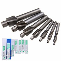 7pcs HSS Counterbore End Mill M3 2 M12 4 Pilot Slotting Tool Milling Cutter With Abrasion