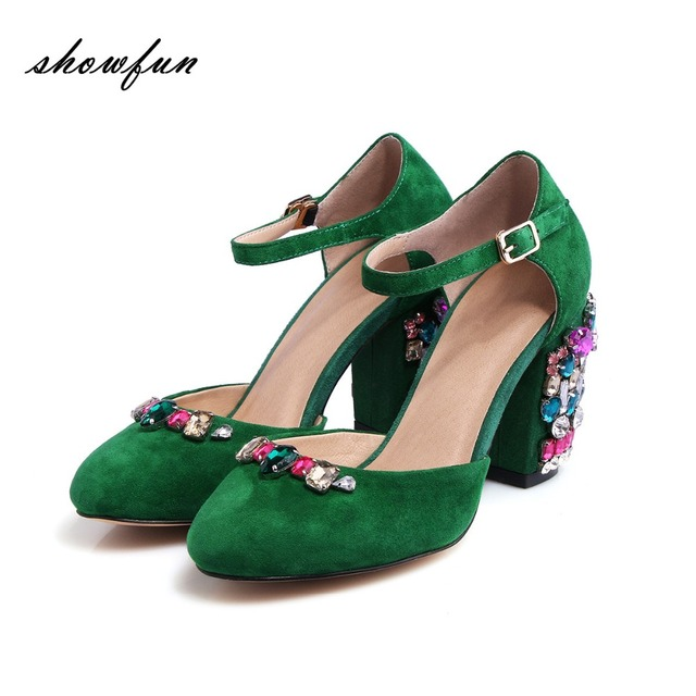 cb2837cfb00 Women-s -Genuine-Suede-Leather-Ankle-Strap-Med-Heel-Mary-Jane-Pumps-Brand-Design-Round-Toe.jpg 640x640.jpg