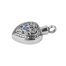Heart Shaped Stainless Steel Ashes Holder